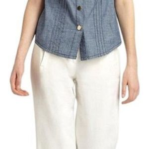 Tory Burch Ivory Lily New with Tag Pants